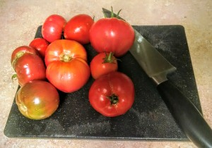 tomatoes from our very own abundant garden