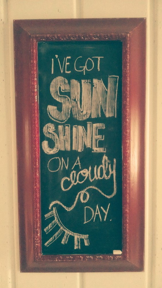 Creating inspiration - chalkboard quotes